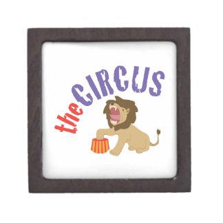 Circus Lion Premium Keepsake Box