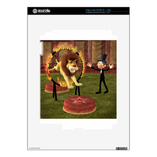 Circus Lion Ring Jump Decal For The iPad 2