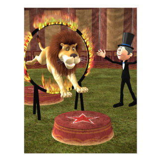 Circus Lion Ring Jump Letterhead