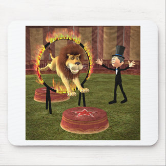 Circus Lion Ring Jump Mouse Pad