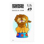 Circus Lion Stamp