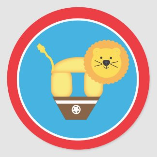 Circus Lion Sticker