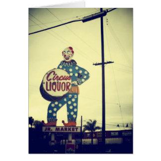 Circus Liquor Card