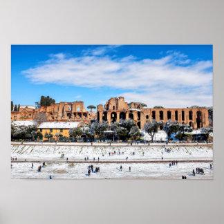 Circus Maximus under the snow Poster
