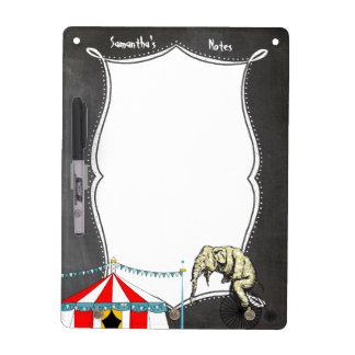 Circus Memorabilia In Memory of Circus Elephants Dry Erase Board