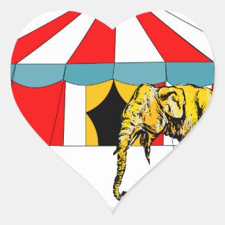 Circus Memorabilia In Memory of Circus Elephants Heart Sticker