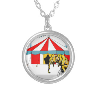 Circus Memorabilia In Memory of Circus Elephants Silver Plated Necklace