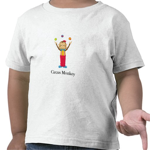 Circus Monkey with Customizable Text Tshirts