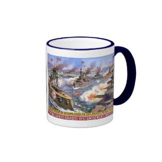 Circus Navy Coffee Mugs