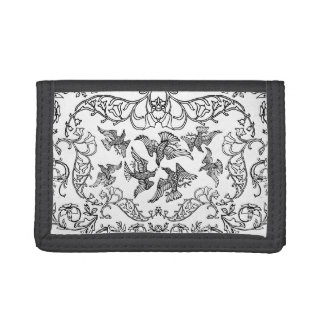 circus of birds trifold wallet