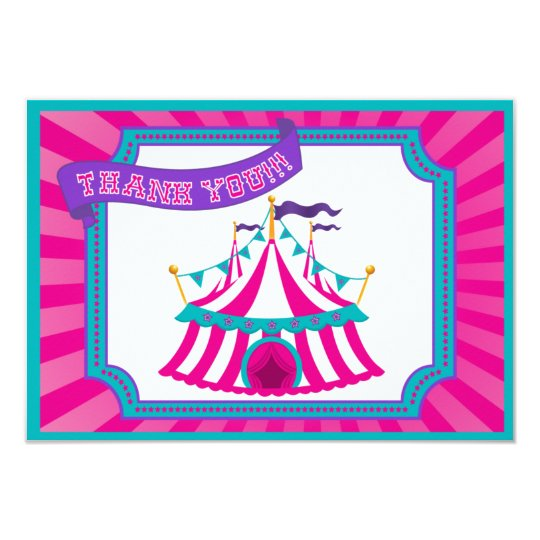 Circus or Carnival Party - Thank You Cards