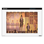 """Circus parade by Georges Seurat 15"""" Laptop Decal"""