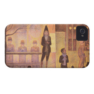 Circus parade by Georges Seurat iPhone 4 Covers