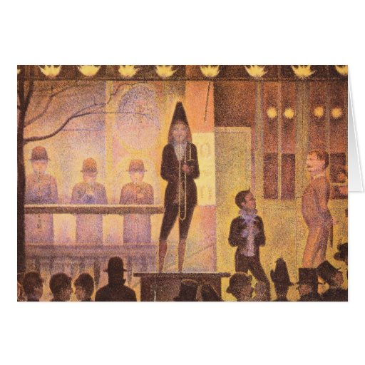 Circus parade by Georges Seurat Greeting Cards