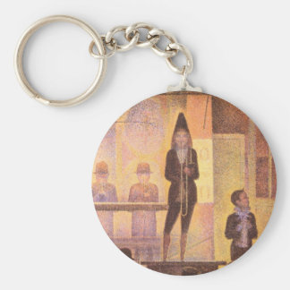 Circus parade by Georges Seurat Keychain