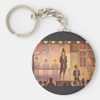 Circus parade by Georges Seurat Keychains