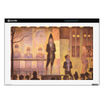 Circus parade by Georges Seurat Laptop Decals