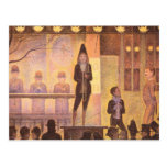 Circus parade by Georges Seurat Post Cards