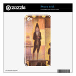 Circus parade by Georges Seurat Decal For iPhone 4S