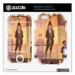 Circus parade by Georges Seurat Skin For Motorola Cliq XT