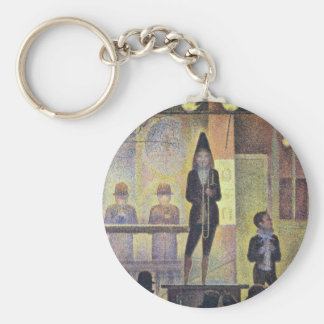 Circus Parade By Seurat Georges Key Chains