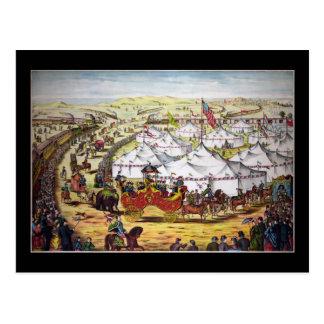 Circus parade post card