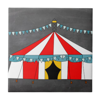 Circus Party and Tent Gifts Ceramic Tile