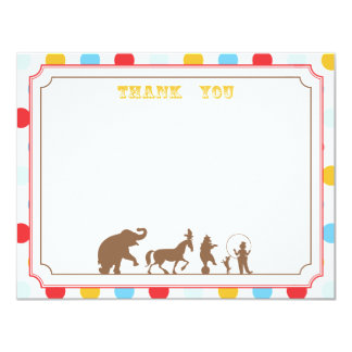 Circus Party Flat Thank You Note Card