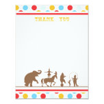 Circus Party Flat Thank You Note Personalized Invite