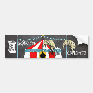 Circus Party Gifts Bumper Sticker