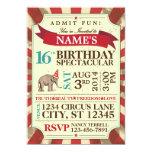 """Circus Party Invitation 5"""" X 7"""" Invitation Card"""