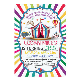 CIRCUS PARTY INVITATION FOR BOYS