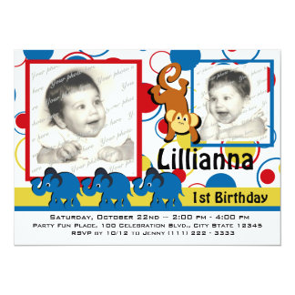 Circus Party Photo Card