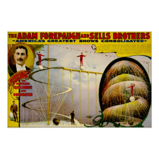 Circus Performance Vintage 1899 Poster