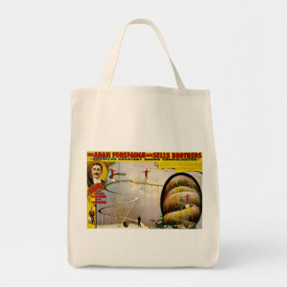 Circus Performance Vintage 1899 Poster Canvas Bags