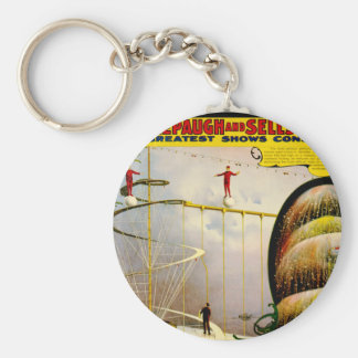 Circus Performance Vintage 1899 Poster Basic Round Button Keychain
