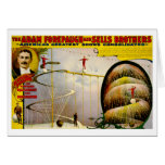 Circus Performance Vintage 1899 Poster Greeting Cards