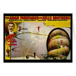 Circus Performance Vintage 1899 Poster Greeting Card