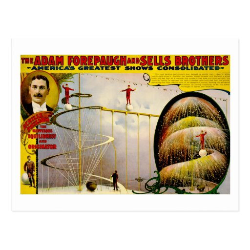 Circus Performance Vintage 1899 Poster Post Cards