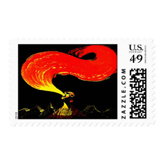 CIRCUS PERFORMER FIRE BREATHING ARTIST STAMPS! POSTAGE STAMP
