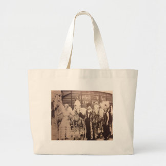 Circus Performers and White Horses Canvas Bags