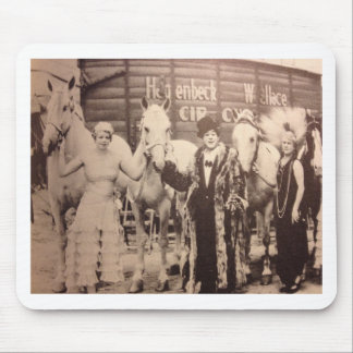 Circus Performers and White Horses Mouse Pad