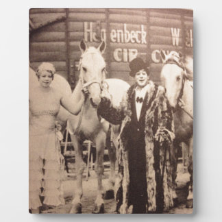 Circus Performers and White Horses Plaque