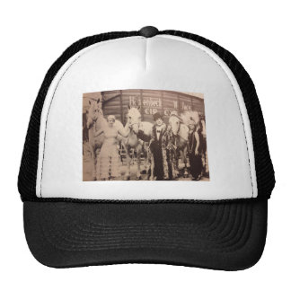 Circus Performers and White Horses Trucker Hat