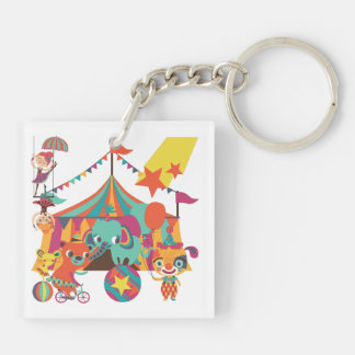 Circus Performers Acrylic Key Chain