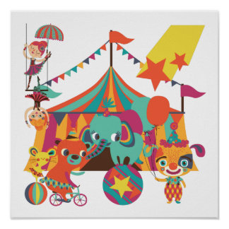 Circus Performers Poster