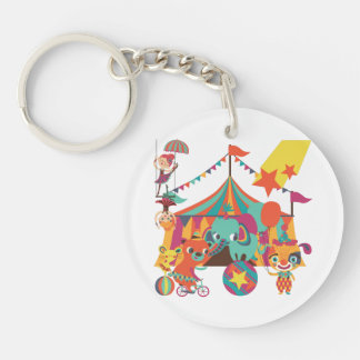 Circus Performers Single-Sided Round Acrylic Keychain