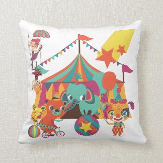 Circus Performers Throw Pillow