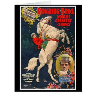 Circus Playbill 1899 Large Greeting Card