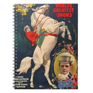Circus Playbill 1899 Notebook